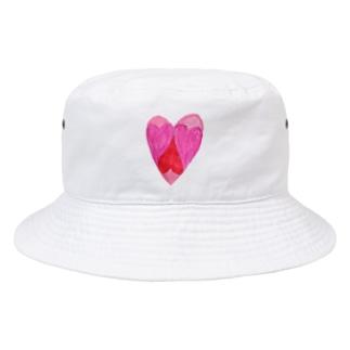複合ハート Bucket Hat