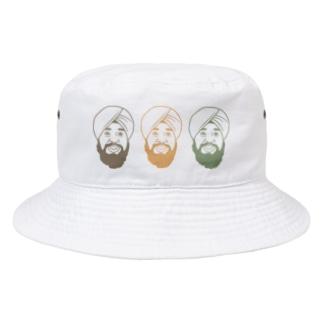 ターバンさんのアースカラーターバンさん Bucket Hat