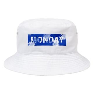 Blue MONDAY Bucket Hat