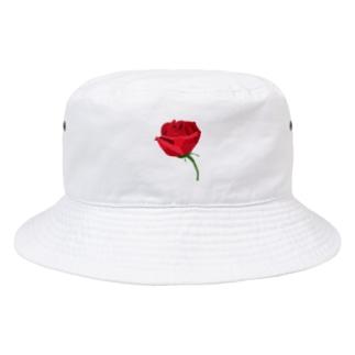 はなまるのRose-赤いバラ Bucket Hat