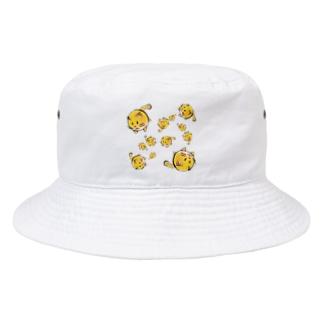 くるくるねこねこ Bucket Hat