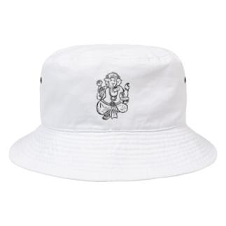 T.WorKsのカレー大好き ガネーシャ君 Bucket Hat