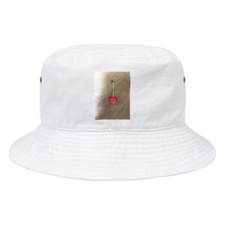 tikuwabのCherry さくらんぼ (i'm cherry boy series) Bucket Hat