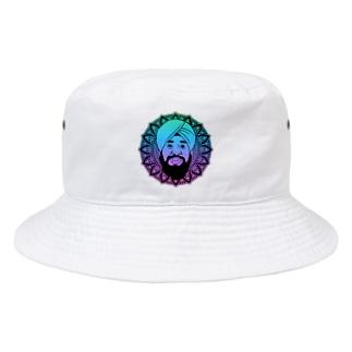 曼荼羅風ターバンさん Bucket Hat