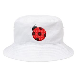 TK-marketのてんとう虫 Tシャツ Bucket Hat