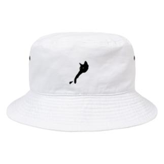 浮かぶ黒猫 Bucket Hat