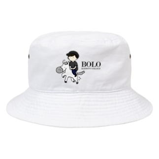 HarmonyCollege_Osyan-T-shirtのBOLOBOY(BLACK) Bucket Hat