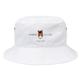 HarmonyCollege_Osyan-T-shirtのHARMONYCOLLEGE(黒) Bucket Hat