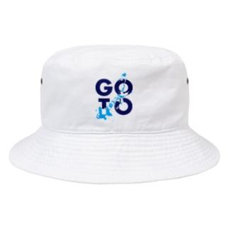 暇戸皇子のGOTOキャンペーン(水色・紺) Bucket Hat