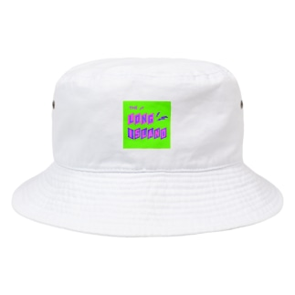 平行四辺形デザイン パープル×ピンク×グリーン Bucket Hat