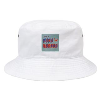 平行四辺形デザイン オレンジ×ネイビー×グレー Bucket Hat