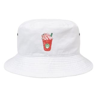 イチゴフラペチーノガエル Bucket Hat