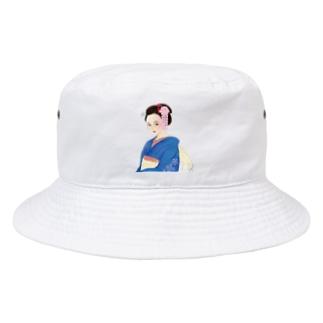 TK-marketの着物美女 Tシャツ Bucket Hat