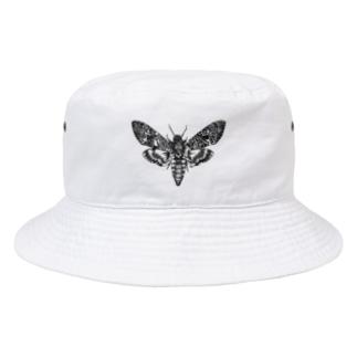 蛾(クロメンガタスズメ) Bucket Hat