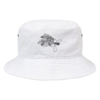 花束(モノクロ) Bucket Hat