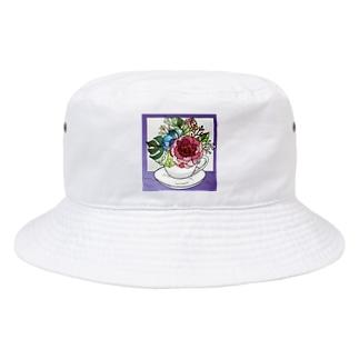 T_tshopの個性的フラワー Bucket Hat