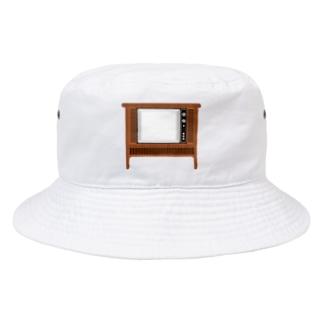 illust_designs_labのレトロな昭和のオーディオテレビのイラスト 画面オン 脚付き  Bucket Hat