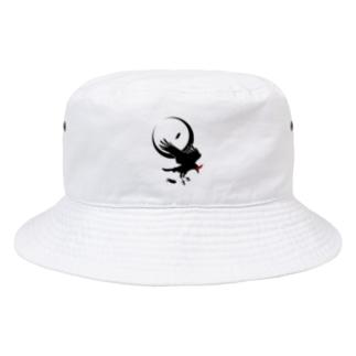 ESCHATOLOGYのレイヴン/三日月 Bucket Hat