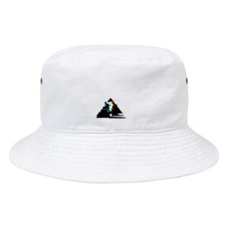 「404プロレス」ロゴ(文字なし) Bucket Hat