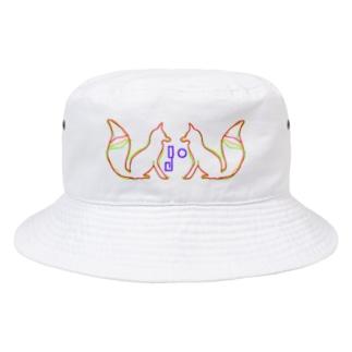 3-THREE-color-FOX Bucket Hat