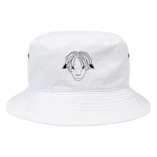 ドレッドヒツジ (モノトーン) Bucket Hat