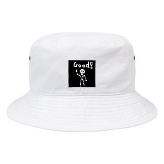 ぐっどガイコツ Bucket Hat