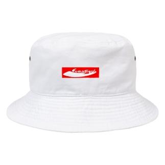 クワソウル【Kuwasoul】赤ロゴ Bucket Hat