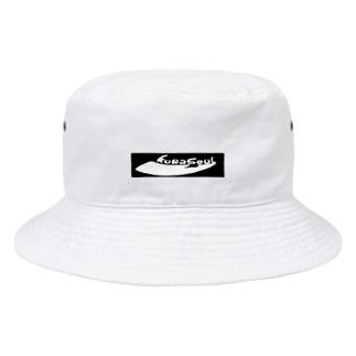 クワソウル【Kuwasoul】ロゴ黒 Bucket Hat