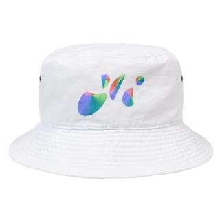 MACのぐるぐるしてるやつがウザいからグニャグニャにしてTシャツにしてやったわよ Bucket Hat