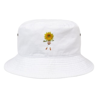flower & Plants Edenのflower dolls ヒマワリ Bucket Hat