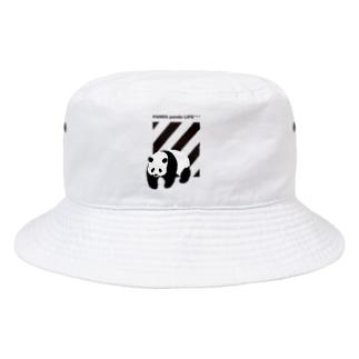 飛び出すパンダ ストライプ Bucket Hat