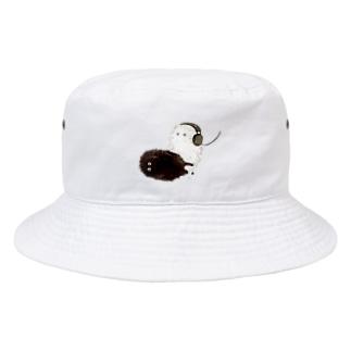 白と黒の生き物 Bucket Hat