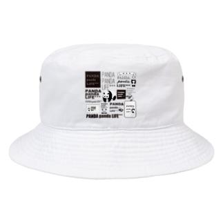 PANDA panda LIFE***のロゴロゴ パンダ Bucket Hat