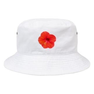 ハイビスカス・レッド① Bucket Hat