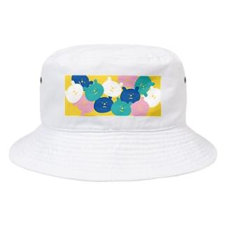 パラパラクマ レトロカラー3yl Bucket Hat