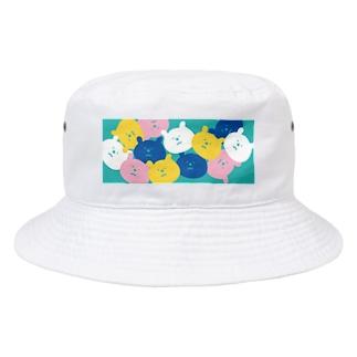 パラパラクマ レトロカラー3gr Bucket Hat