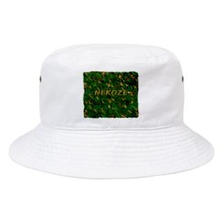 NEKOZE迷彩ロゴ入り Bucket Hat
