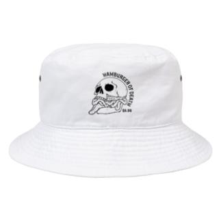 ハンバーガーオブデス/クロ(淡色用) Bucket Hat