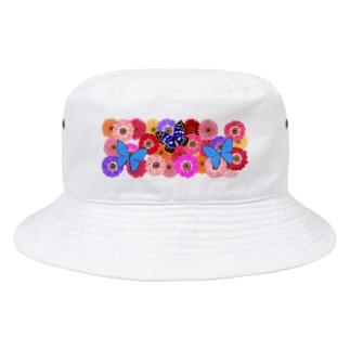 Flower & Butterfly Bucket Hat