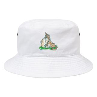 猫ちゃん 親子 Bucket Hat