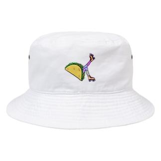 タコス ローラースケート ガール  TACOS ROLLER GIRL DOT 水玉 ドット Tacos Rollerskate Rainbow Bucket Hat