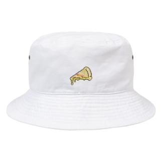 刺繍ピザ Bucket Hat