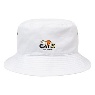 【期間限定】CAT X SALMON Bucket Hat