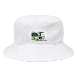 夜、世界を二人で抜け出す(miotorahatiコラボ) Bucket Hat