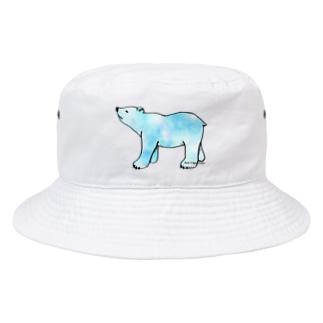 上向きでいこうアニマル クマ Bucket Hat