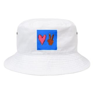 ラブアンドピース Bucket Hat