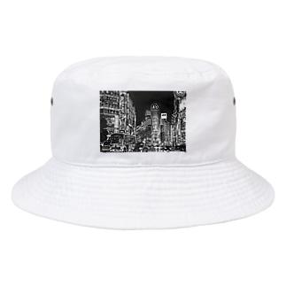 モノクロ東京 Bucket Hat