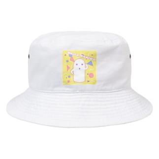 白いハニワ【80's】 Bucket Hat