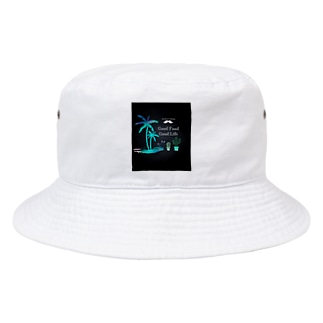 Mr.Perez's LOGO 南国🌴STYLE Black Bucket Hat