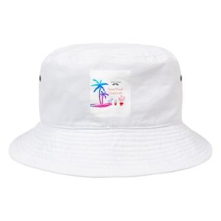 Me.Perez's LOGO 南国🌴STYLE White Bucket Hat